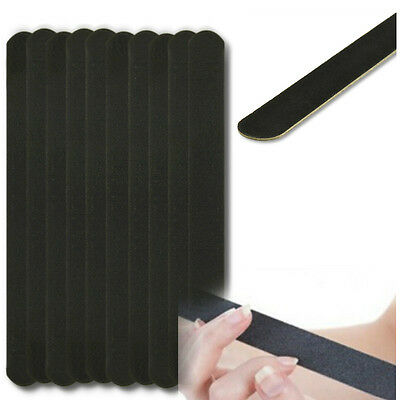 Nail Art Black Sanding File Buffer For Salon Manicure UV Gel Polisher Tool 10PCS