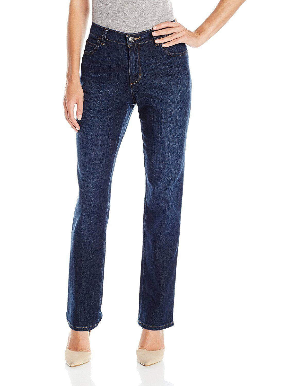 7f540a36 Ladies Lee Relaxed Fit Straight Leg Dark Blue Denim Jean 18 Short 3051889  for sale online | eBay