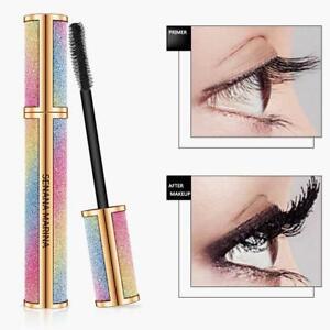 4D-Seidenfaser-Wimpern-Mascara-Extension-Makeup-Schwarz-Wasserdichte-Wimpern-Neu