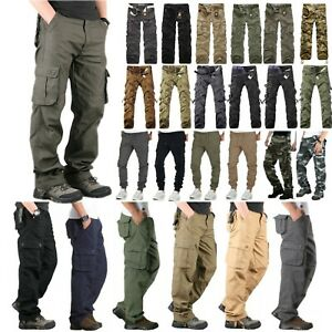 Men-039-s-Military-Army-Combat-Trousers-Tactical-Cotton-Work-Camo-Cargo-Long-Pants