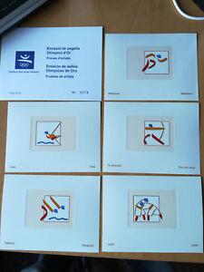 PRUEBAS-S-D-OLIMPICAS-DE-ORO-1144-1153-10-V-BARCELONA-92-OFICIALE