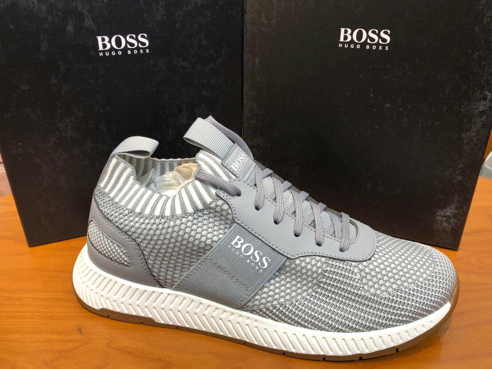 BOSS HUGO BOSS Uomo scarpe da ginnastica Athleisure Titanium Runn Runn Runn Scafe In 050 Pastel grigio 011b6b