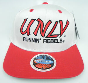 NEVADA-LAS-VEGAS-UNLV-REBELS-NCAA-VINTAGE-SNAPBACK-RETRO-2-TONE-CAP-HAT-NEW
