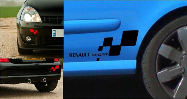 KIT 2 ADESIVI RENAULT SPORT  CLIO  TROPHY CLIO MEGANE TWINGO  WILLIAMS