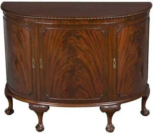 Image Is Loading Antique Style Demi Lune Half Moon Shaped Sideboard