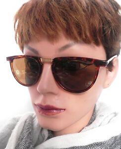 Occhiali-Donna-Retro-da-sole-anni-80-MARRONE-VINTAGE-59