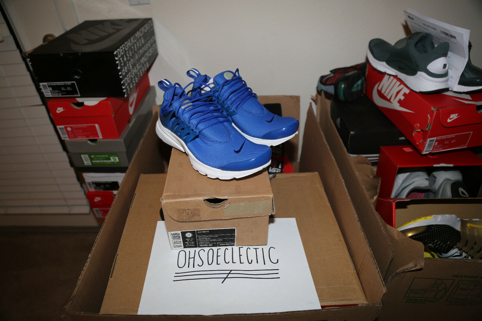 Nike Air Presto DS ROYAL 2010 VINTAGE RARE XS 8-9 alpha project