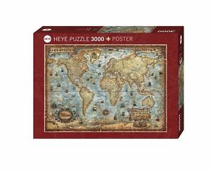 Jigsaw puzzle 3000 piece antique map hy29275 heye puzzles the image is loading jigsaw puzzle 3000 piece antique map hy29275 heye gumiabroncs Image collections