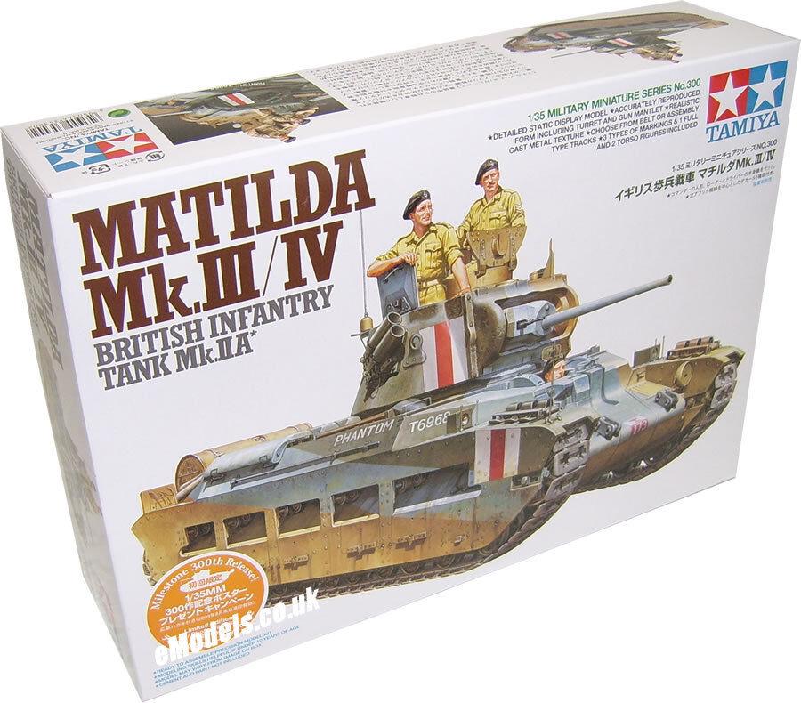 Tamiya 1 35 Matilda Mk.III IV British Infantry Tank Plastic Model Kit