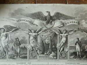 estampe-L-indicateur-general-Calendrier-1838-1839-a-l-039-honneur-de-Napoleon