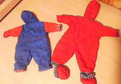 Kanz Schneeanzug rot Gr. 74 +Schuhe geknöpft + blau Gr. 68 BW Innenfutter!