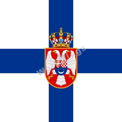 0 Yugoslavia Flag 4X4FT Monarchical Royal King Peter II Regent Prime Minister