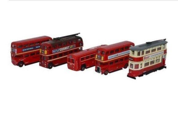 Oxford Diecast NSET02 5 Piece Bus Set London Transport 1 148 (N) Scale Diecast