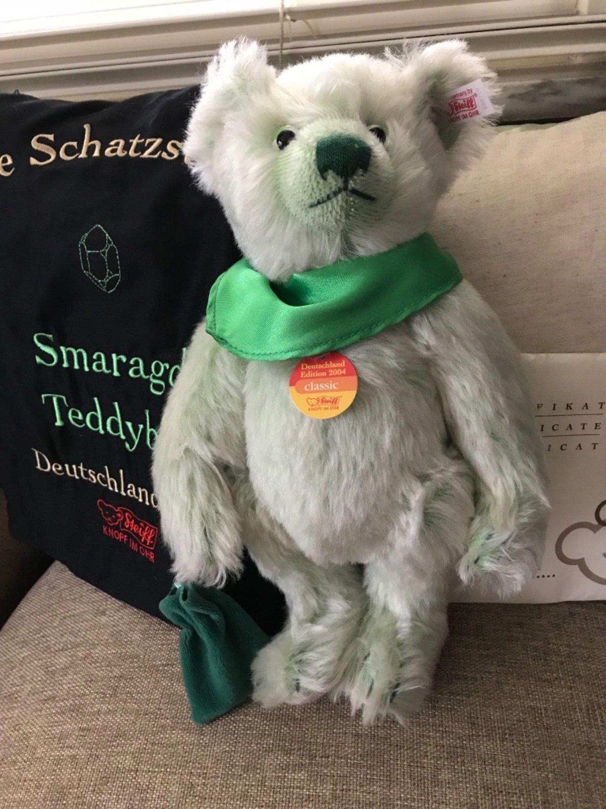 Steiff  671968 Emerald Treasure Hunter Teddy Bear LE NIB