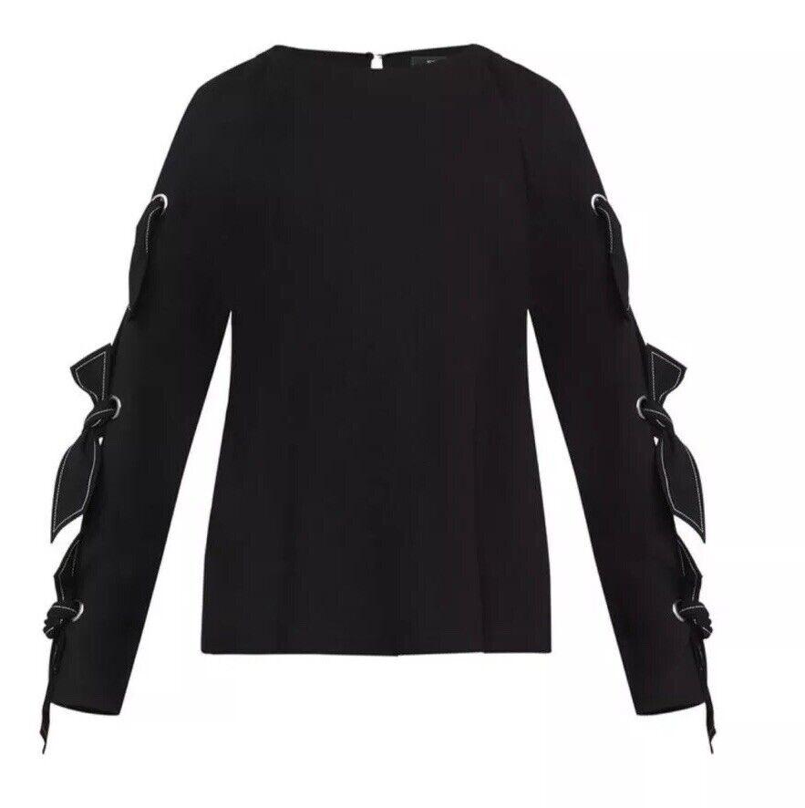 Nuevo Con Etiqueta  198 Bcbg  Max Azria 5390 Haydin shirt Sz S Color Negro  el mejor servicio post-venta
