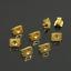 100Pcs 6mm Butterfly Earring Backs Stopper Scroll Ear Post DIY Jewelry Findings