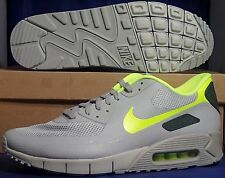 Nike Air Max 90 Hyperfuse Premium iD Grey Voltage Yellow SZ 12 ( 653605-993 )
