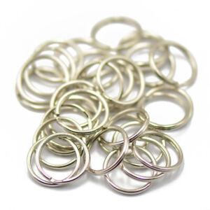 100pc Metal D-Rings Unwelded Split Curtain Tieback  Loop Buckle Hook Ring DIY