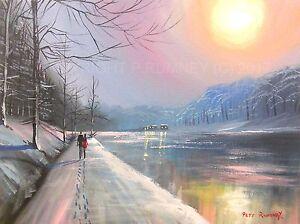 PETE-RUMNEY-FINE-ART-BUY-ORIGINAL-PAINTING-CANVAS-WALKING-IN-WINTER-LIGHT