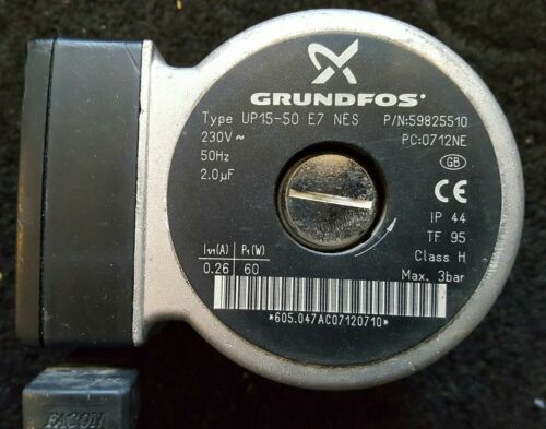 Grundfos UP 15-50 E7 NES p//n 59825510 used replacement pump head