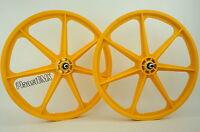 Skyway Bmx 24 Tuff Wheels Cruiser Mags In Yellow Sealed Bearing Hubs Usa Made