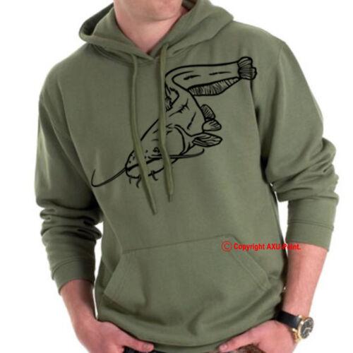 Catfish fishing hoodie black cat fishing Welsh Catfish fishing HOODIES S-XXL