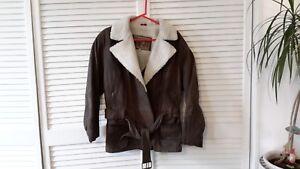 en Secret victoria's Winlit cuir Vintage Veste marron Tadwqqv
