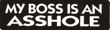 Motorcycle Sticker for Helmets or toolbox #355 My boss is an