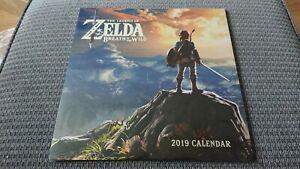 Official-Nintendo-Legend-of-Zelda-Breath-of-the-Wild-2019-Wall-Calendar-NEW