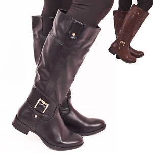 4f95ed64e9b New Ladies Womens Winter Riding Boots Over The Knee Black Brown Size ...