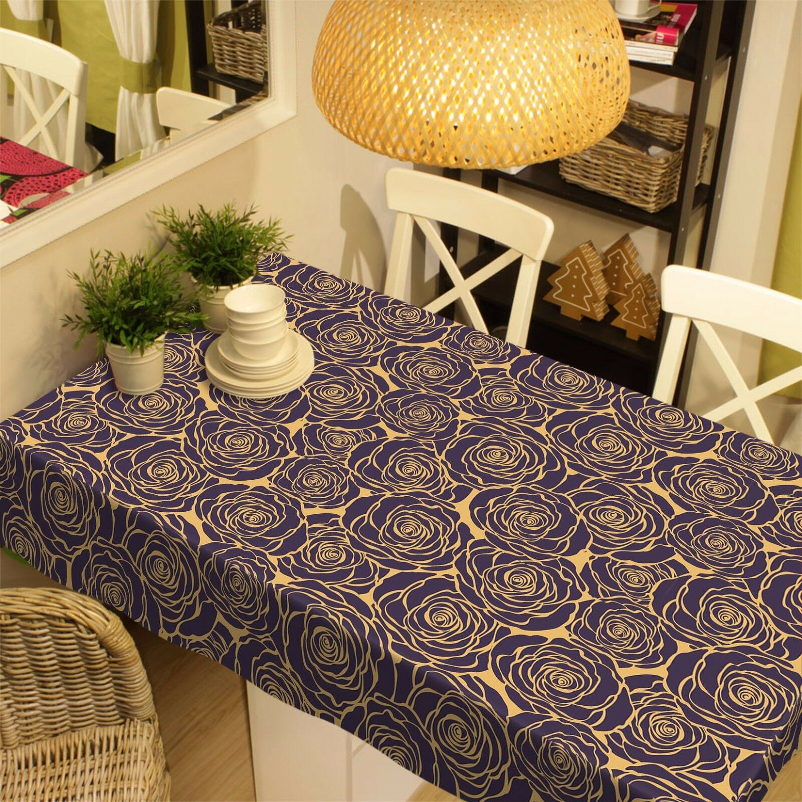 3D Petal  4379 Tablecloth Table Cover Cloth Birthday Party Event AJ WALLPAPER AU