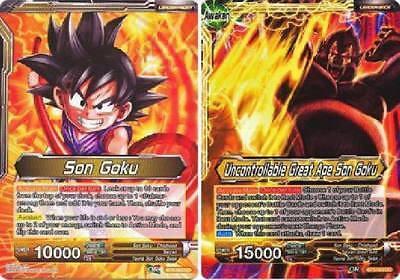 4x FOIL Dragon Ball Super *Rampaging Great Ape Son Goku* BT3-089 R