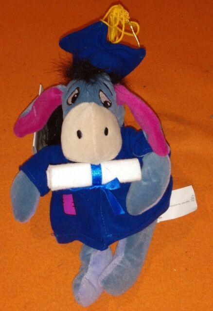 """Disney 9/"""" Mini Bean Bag Graduation EEyore"""