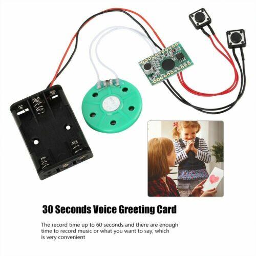 30 S Carte de vœux enregistrables Voice Chip Music Sound Talking musical Module Cadeau