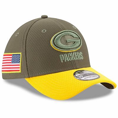 8ae89107e GREEN BAY PACKERS NFL NEW ERA 39THIRTY SALUTE TO SERVICE SIDELINE HAT S M   36