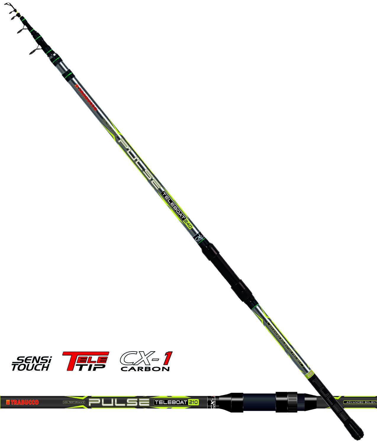 16270240 Canna pesca mare barca Bolentino Trabucco Pulse Teleboat 240 cx-1 CAS