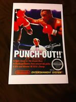 Mike Tyson's Punch-out 11x17 Box Art Poster - Nintendo Nes No Game -