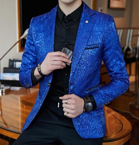 calda vendita di rivestimento sportiva della floreale degli del degli uomini blazer stampato Cappotto uomini giacca elegante del EwF5tt