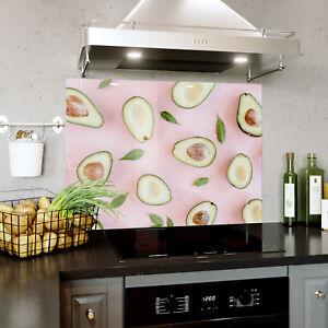 Kitchen Tempered Glass Splashbacks Splashback Panel Pink Pastel ...