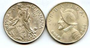PANAMA-Un-Balboa-1947-Large-Brilliant-Uncirculated-Silver-Coin-LUSTER