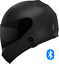 thumbnail 1 - Motorcycle-Helmet-with-Bluetooth-Headset-installed-Shield-color-options