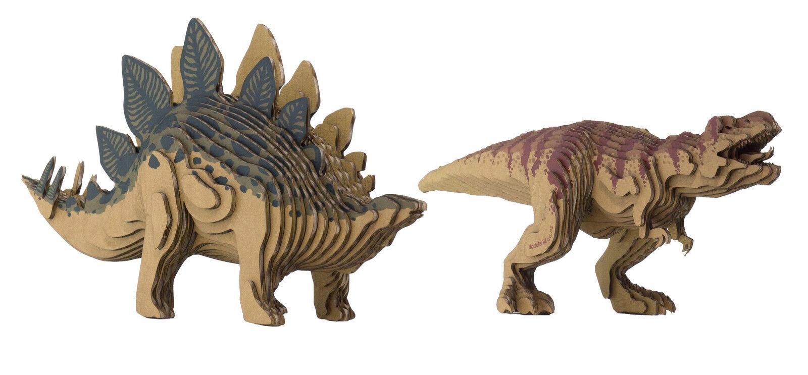3D Dinosaur DIY Bundle Kit Make Stegosaurus & Tyrannosaurus Eco-Friendly Models