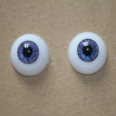 22mm Doll Eyeball Half Round Acrylic Doll Eyes Purple color for Reborn Baby Doll