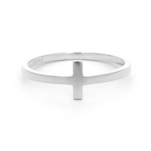 Sideways Cross Ring available in 14k Yellow or White Gold or Sterling Silver