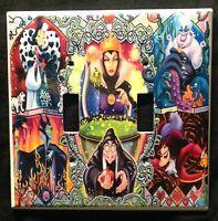 Disney Villains Double Light Switch Cover Evil Queen Cruella Ursula Maleficant