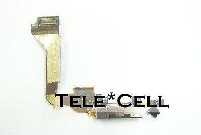 NEW Black Iphone 4 4G Charger Charging Port Flex Cable Dock Connector A1332