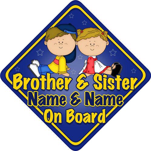 Frère /& soeur VOITURE SIGNE comme Bébé Enfant à bord dbbg