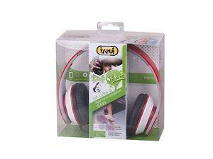 TREVI-DJ-625-SKATE-CUFFIE-Hi-Fi-DIGITAL-STEREO-CON-ARCHETTO-PIEGHEVOLE-ROSSO
