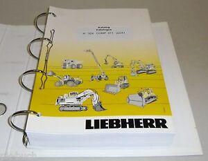 Spare Parts Catalog Pièces de Rechange Liebherr Excavator R 924 Comp Stand