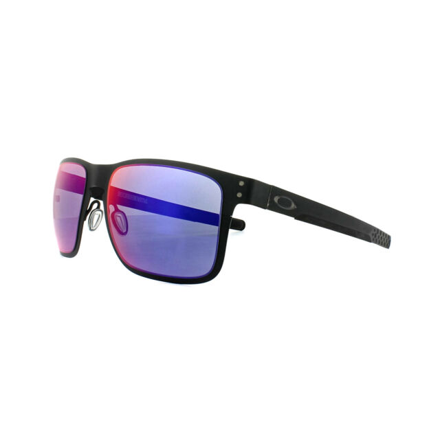 201945a6c48 Oakley Sunglasses Holbrook Metal OO4123-02 Matt Black Positive Red Iridium